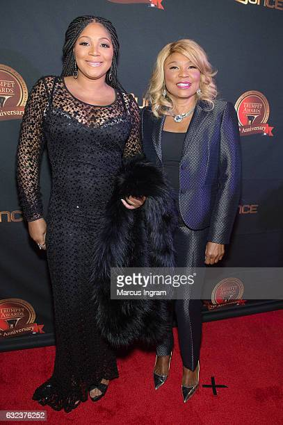 Trina Braxton and Evelyn Braxton attend the 25th Annual Trumpet Awards at Cobb Energy Performing Arts Center on January 21, 2017 in Atlanta, Georgia.