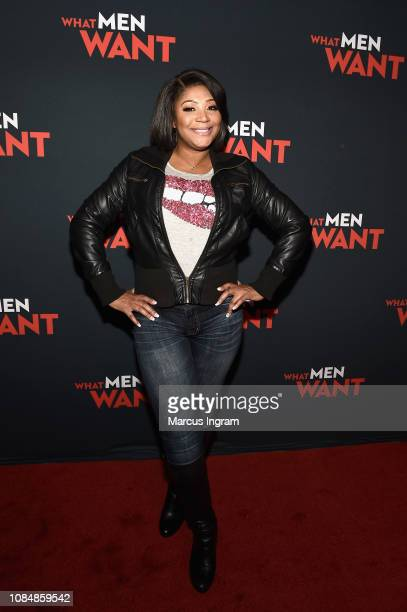 Trina Braxton attends a special screening of 'What Men Want' at Regal Atlantic Station on January 18, 2019 in Atlanta, Georgia.