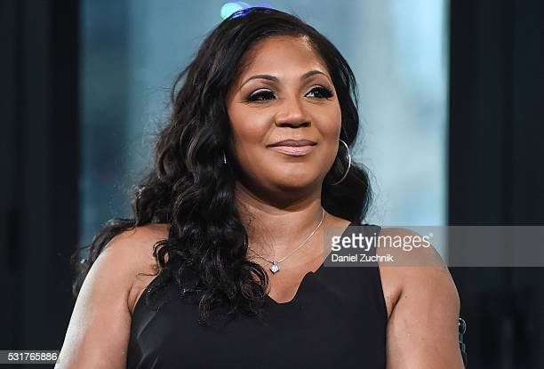 Trina Braxton attends AOL Build to discuss the show 'Braxton Family Values' on May 16, 2016 in New York, New York.