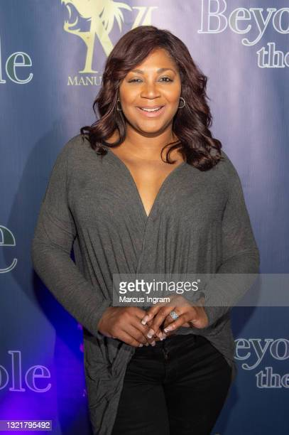 """Trina Braxton attends the """"Beyond the Pole"""" Season 2 red carpet premiere party at District Atlanta on June 03, 2021 in Atlanta, Georgia."""