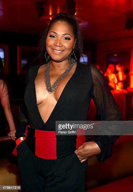 Trina Braxton attends the MLS Atlanta Launch Event at SOHO on July 7, 2015 in Atlanta, Georgia.