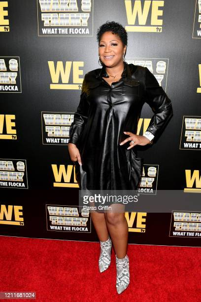 "Trina Braxton attends the premiere of ""Waka & Tammy: What The Flocka"" at Republic on March 10, 2020 in Atlanta, Georgia."