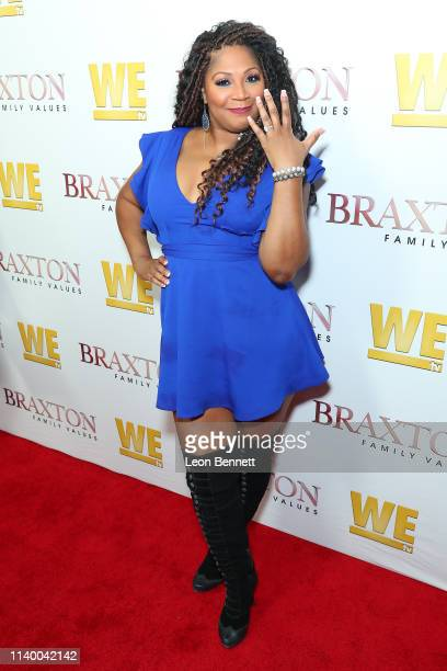 "Trina Braxton attends WE tv's ""Braxton Family Values"" Season 6 Premiere at The Doheny Room on April 02, 2019 in West Hollywood, California."