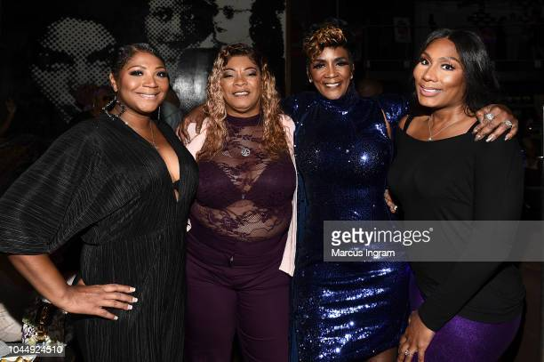 Trina Braxton, Debra Antney, Momma Dee, and Towanda Braxton attend 'WE tv Celebrates The Return Of Growing Up Hip Hop Atlanta' at Club Tongue &...