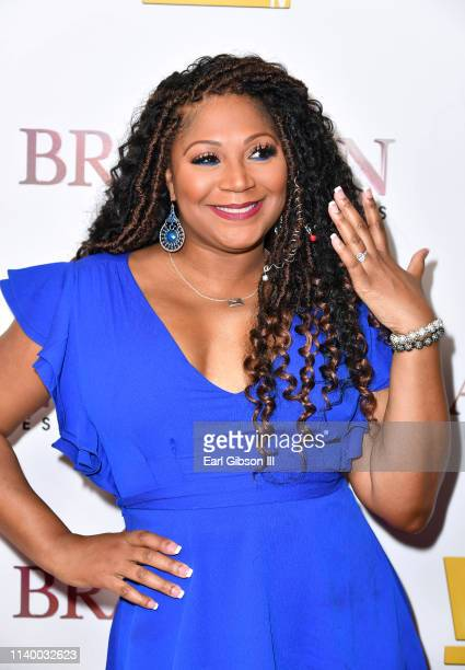 "Trina Braxton is seen as We TV celebrates the premiere of ""Braxton Family Values"" at Doheny Room on April 02, 2019 in West Hollywood, California."