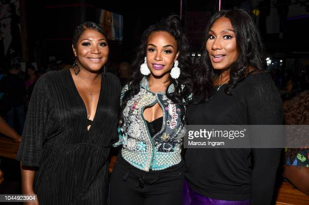 "Trina Braxton, Masika Kalysha and Towanda Braxton attend WE tv Celebrates The Return Of ""Growing Up Hip Hop Atlanta"" at Club Tongue & Groove on..."