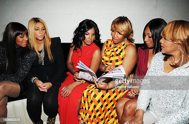 "Trina Braxton, Tamar Braxton, Toni Braxton, Traci Braxton, Towanda Braxton and Evelyn Braxton attend the ""Braxton Family Values"" Season Three..."