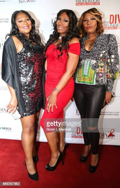 Trina Braxton Towanda Braxton and Evelyn Braxton attend Sheryl Lee Ralph's 27th Annual DIVAS Simply Singing event at Taglyan Cultural Complex on...