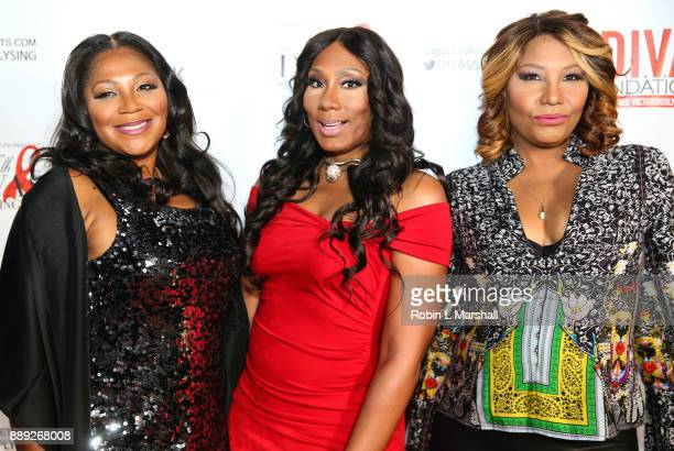Trina Braxton, Towanda Braxton and Traci Braxton attend Sheryl Lee Ralph's 27th Annual DIVAS Simply Singing event at Taglyan Cultural Complex on...