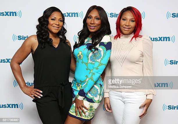 Trina Braxton, Towanda Braxton and Traci Braxton visit SiriusXM Studio on May 16, 2016 in New York City.