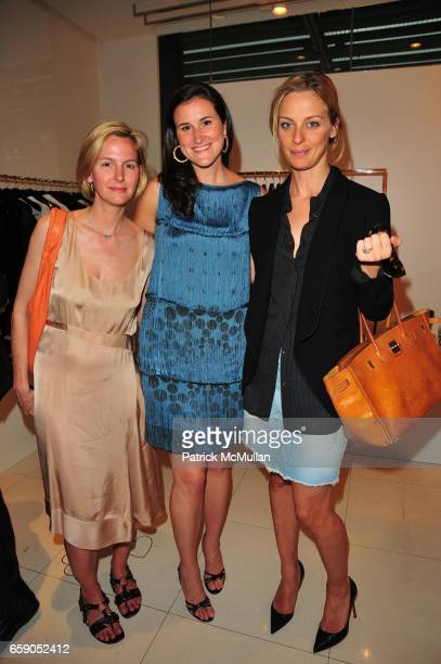 Trina Lombardo Lydia Fenet and Jessica Diehl attend Moschino Toasts Ross Bleckner at Moschino NYC on April 28 2009