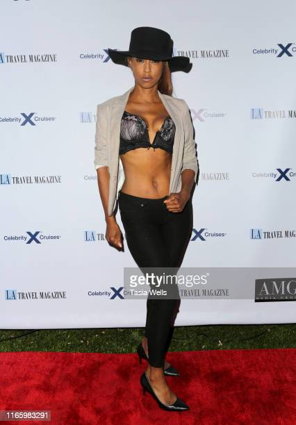 Trina McGee attends Los Angeles Travel Magazine's Endless Summer Issue Release Party at Penthouse on August 02, 2019 in West Hollywood, California.