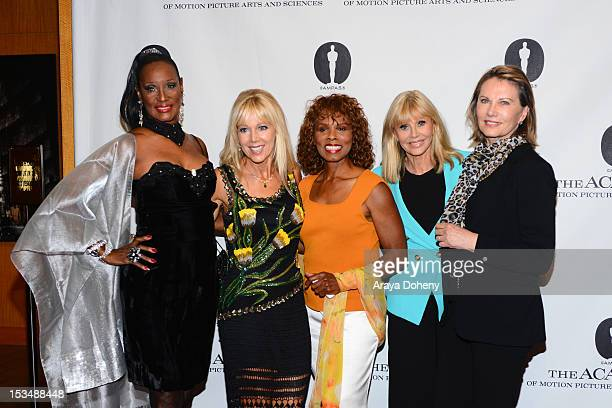 Trina Parks LynnHolly Johnson Gloria Hendry Britt Ekland and Maud Adams attend The Academy Of Motion Picture Arts And Sciences' Presents 'The Music...