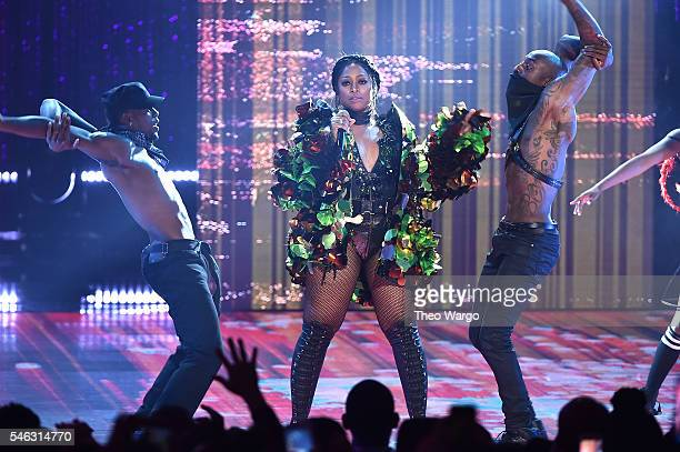 Trina performs onstage during the VH1 Hip Hop Honors All Hail The Queens at David Geffen Hall on July 11 2016 in New York City