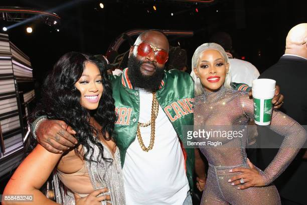 Trina Rick Ross and Keyshia Ka'oir attend the BET Hip Hop Awards 2017 at The Fillmore Miami Beach at the Jackie Gleason Theater on October 6 2017 in...