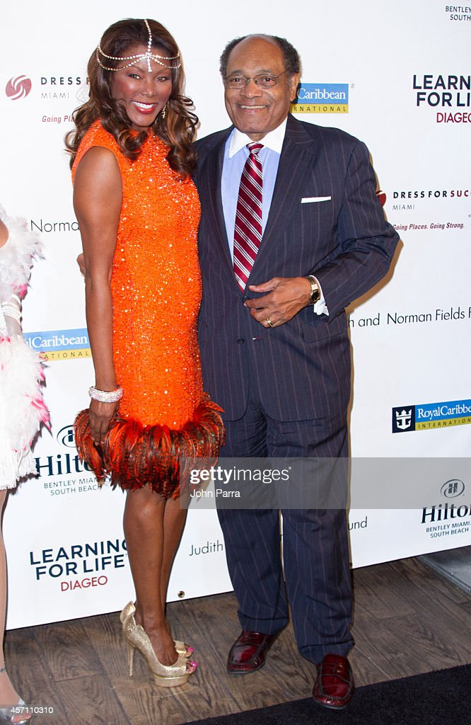 Trina Robinson and guest attend Dress for Success Miami Celebrates 20th Anniversary at The Rusty Pelican on October 11, 2014 in Key Biscayne, Florida.