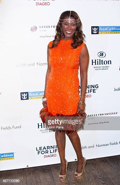 Trina Robinson attends Dress for Success Miami Celebrates 20th Anniversary at The Rusty Pelican>> on October 11 2014 in Key Biscayne Florida
