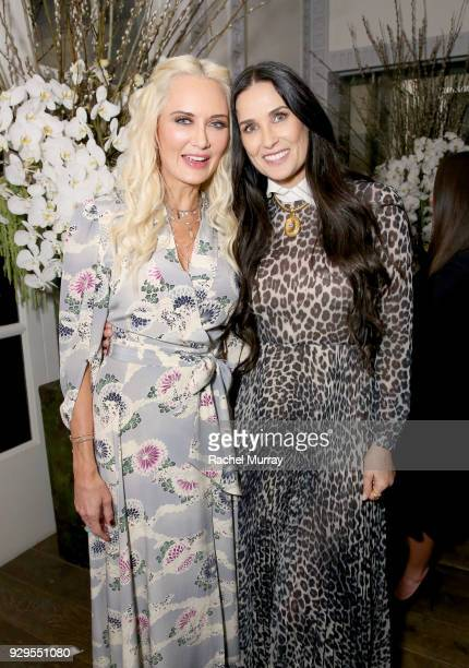 Trina Venit and Demi Moore attend Visionary Women honor activist and actress Demi Moore in celebration of International Women's Day on March 8 2018...