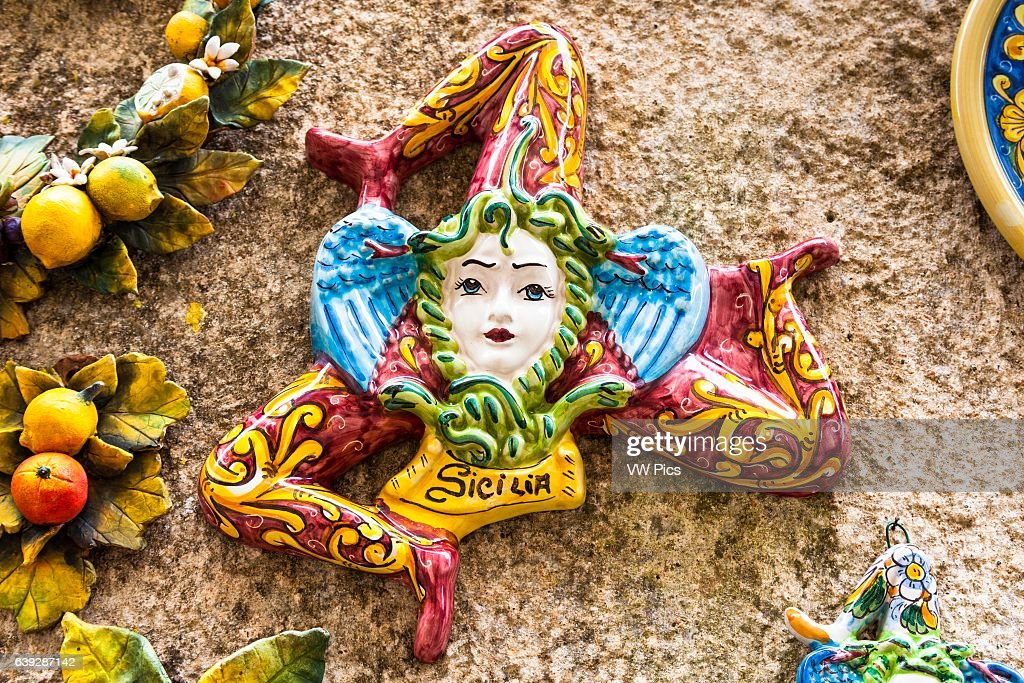 A Trinacria Ancient Symbol Of Sicily Erice Sicily Italy News
