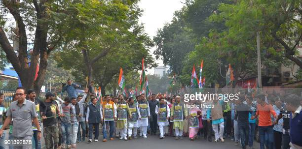 Trinamool Congress leader and Member of Parliament Abhishek Banerjee and other Trinamool Congress leaders activists and supporters take part in a...
