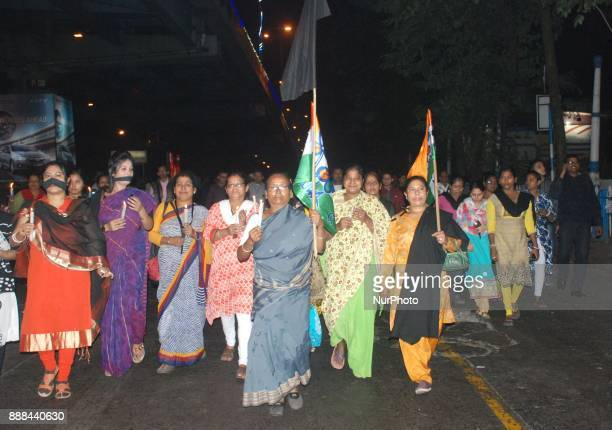 Trinamool Congress Youth Wings participates in a rally to protest against the killing of a Muslim Labour Afrazul Khan from Malda West Bengal at...