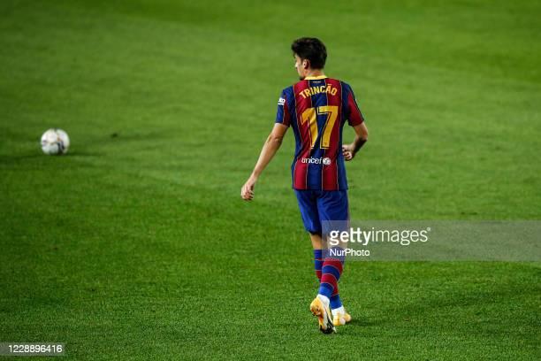 17 Trincao of FC Barcelona during La Liga match between FC Barcelona and Sevilla FC behind closed doors due to Coronavirus at Camp Nou Stadium on...