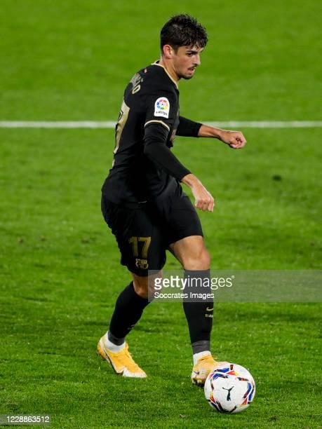 Trincao of FC Barcelona during the La Liga Santander match between Celta de Vigo v FC Barcelona at the Estadio de Balaidos on October 1 2020 in...