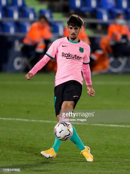 Trincao of FC Barcelona during the La Liga Santander match between Getafe v FC Barcelona at the Coliseum Alfonso Perez on October 17 2020 in Getafte...