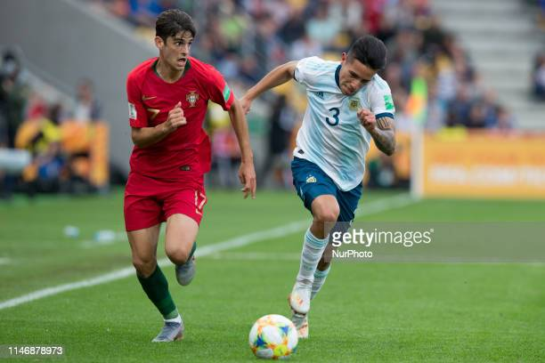Trincao vies Francisco Ortega during the 2019 FIFA U20 World Cup group F match between Portugal and Argentina at BielskoBiala Stadium on May 28 2019...