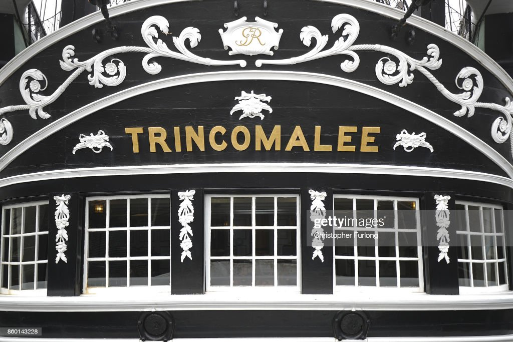 Trincomalee floats in Hartlepool Historic Quay at the National Museum of The Royal Navy on October 11, 2017 in Hartlepool, England. HMS Trincomalee, celebrates it's 200th aniversary tomorrow and is the oldest British fighting ship still afloat. HMS Trincomalee was built in Bombay in 1817 and was one of the last ships commissioned to be built by Nelson. The ship was named Trincomalee after the 1782 Battle of Trincomalee in Ceylon