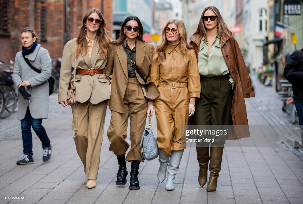 Street Style - Day 2 - Copenhagen Fashion Week Autumn/Winter 2020 : ニュース写真