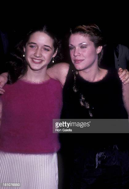 Trini Alvarado and Robin Johnson attend the premiere of Times Square on October 14 1980 at the Ziegfeld Theater in New York City