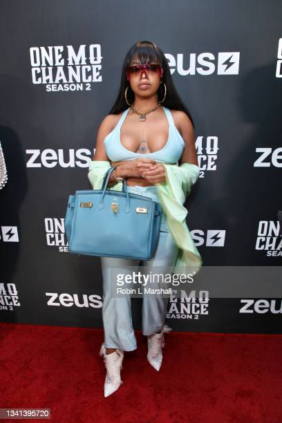 """Trini attends Zeus Network's """"One Mo Chance"""" Season 2 Premiere at AMC Universal at City Walk on September 19, 2021 in Universal City, California."""