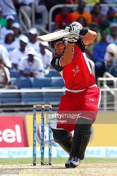 Trinidad and Tobago Red Steel's Ross Taylor during the TwentyFirst Match of the Cricket Caribbean Premier League between Jamaica Tallawahs v Trinidad...