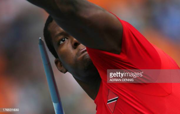 Trinidad and Tobago's Keshorn Walcott competes during the men's javelin throw qualifications at the 2013 IAAF World Championships at the Luzhniki...