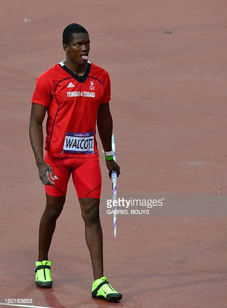 Trinidad and Tobago's Keshorn Walcott competes in the men's javelin throw final at the athletics event of the London 2012 Olympic Games on August 11,...