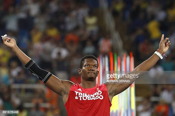 Trinidad and Tobago's Keshorn Walcott competes in the Men's Javelin Throw Qualifying Round during the athletics event at the Rio 2016 Olympic Games...