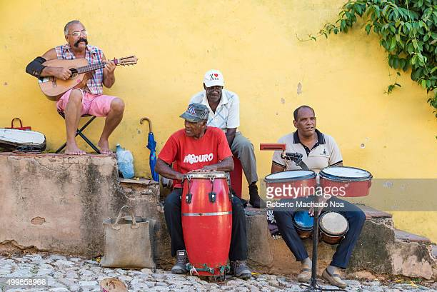 Trinidad de Cuba culture Traditional musicians playing Son cubano music in the streets of Trinidad for the tourists Trinidad is one of the oldest...