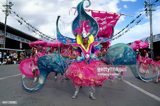 Trinidad Port Of Spain Carnival Parade Of Bands Colorful Costume
