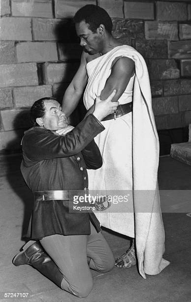 Trinidadborn stage and screen actor Errol John in the title role with Australian actor Leo McKern as Iago in a production of Shakespeare's 'Othello'...