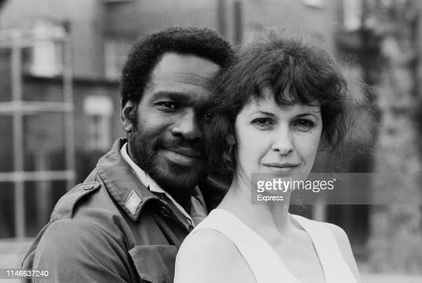 Trinidadian actor Rudolph Walker and British actress Kate Fahy who are starring as 'Othello' and 'Desdemona' in a new production at the Young Vic...