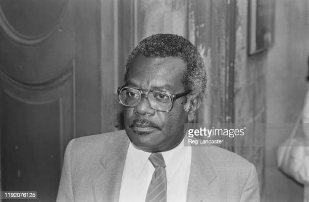 TrinidadianBritish newsreader and journalist Trevor McDonald attends a memorial service for Reginald Bosanquet London UK 5th July 1984