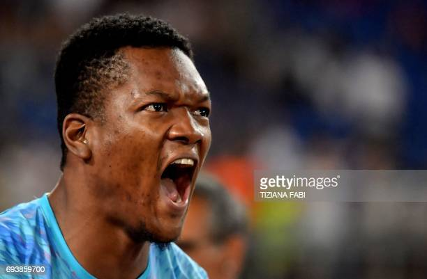 Trinidad's Keshorn Walcott reacts as he competes in the men's javelin event during the Rome IAAF Diamond League athletics competition on June 8, 2017...