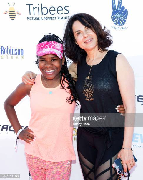 Trinitee Stokes and Harold Robinson Foundation CoFounder Joyce Hyser Robinson attend the 8th Annual Pedal On The Pier Fundraiser at Santa Monica Pier...