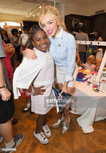 Trinitee Stokes and Peyton List at the Brooks Brothers Beverly Hills summer camp party benefitting St Jude Children's Research Hospital at Brooks...