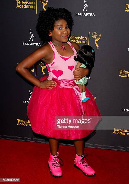 Trinitee Stokes attends the Television Academy and SAGAFTRA's 4th annual Dynamic and Diverse Celebration at Saban Media Center on August 24 2016 in...