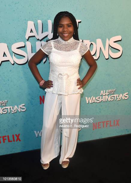 Trinitee Stotes attends a screening of Netflix's 'All About The Washingtons' at Madera Kitchen Bar on August 8 2018 in Hollywood California
