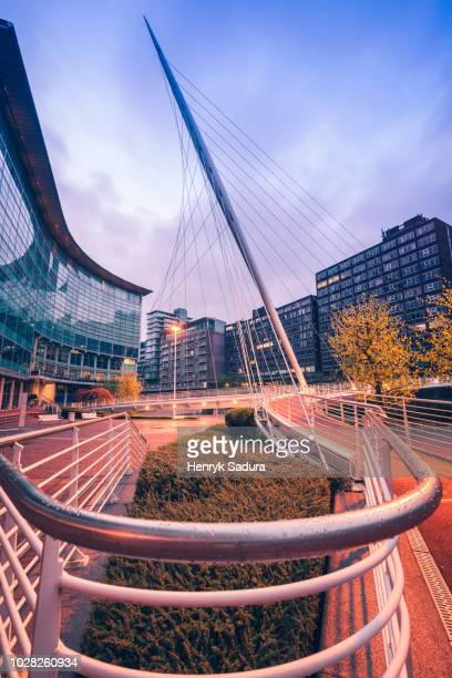 trinity bridge in manchester - manchester england stock pictures, royalty-free photos & images