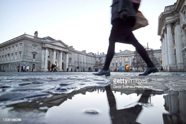 trinity college, dublin city, ireland - david soanes stock pictures, royalty-free photos & images