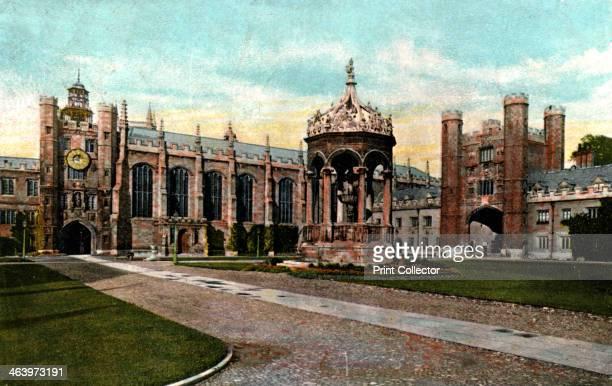 Trinity College fountain Cambridge Cambridgeshire late 19th century